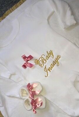 Personalised Baby Grows Romany Baby Gift Bling boys girls