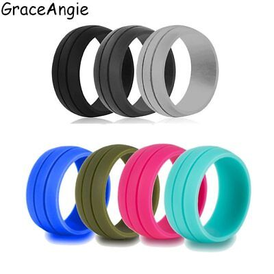 GraceAngie 1PC Multi Color Silicone Ring Stylish Sports Jewelry High Quality Acc