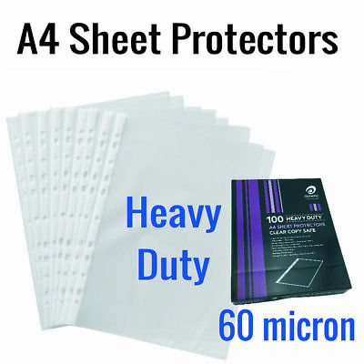 100 Sheets Protector A4 Heavy Weight Olympic 141764