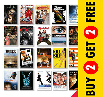 CLASSIC 2000s MOVIE POSTERS, A4/A3 Size Glossy Wall Art Print Film Cinema Decor