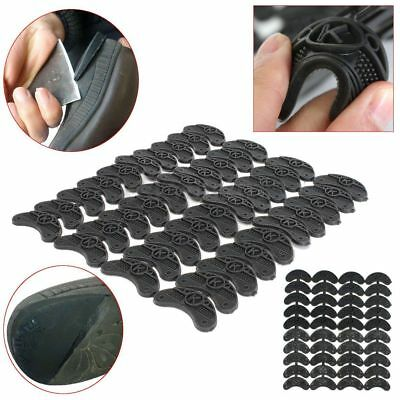 Replacement 10 Pairs Rubber Sole Heel Savers Toe Plates Tap DIY Glue On Shoe Pad
