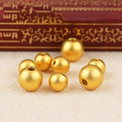1pcs New Real 24K Yellow Gold Pendant Man Woman Fine Smooth Lucky DIY Bead