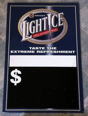 Vintage Fosters Light Ice Corflute Advertising Display Sign