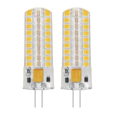 2x 6.5W G4 LED Bulbs 72 2835 SMD LED 50W Halogen Bulbs Equivalent 320lm Dimma F9