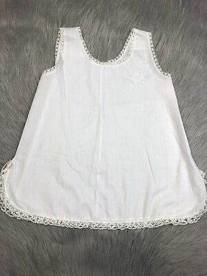 Vintage Toddler Girls Her Majesty White Lace Trim Dress Slip