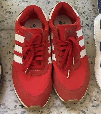 brand new 22735 98a88 Adidas Originals I-5923 Iniki Red Runner Sneakers in Size 9 BB2091 Shoe Mens