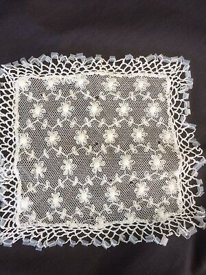 Vintage/Antique Lace Milk Jug Cover with Original Clear Glass Beads