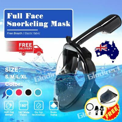 Swimming Diving Full Face Snorkel Snorkeling Mask Swim Dive Scuba Anti Fog AU