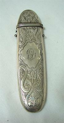 Antique Spectacles glasses chatelaine case sterling silver  HMSS Birmingham 1876