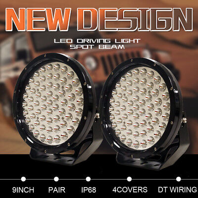 Pair 9inch CREE LED Driving Lights Round Work Lights Spot Lamp Offroad Truck 4x4