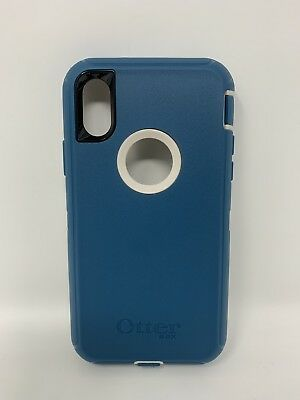 iPhone X OtterBox Defender Series Blue Case for iPhone X New