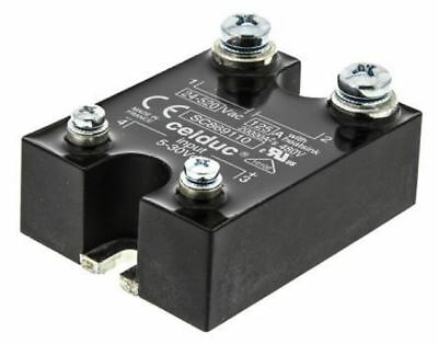 Celduc 125 A Solid State Relay, Zero Crossing, Chassis Mount Triac, 520 V rms Ma