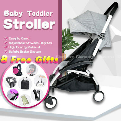 2019 Compact Baby Prams Stroller Lightweight Foldable Plane Carry On Rain Cover