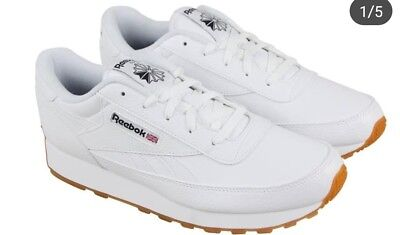 4a719f3fa49 REEBOK CLASSIC LEATHER Mens Gray Leather Athletic Lace Up Training ...
