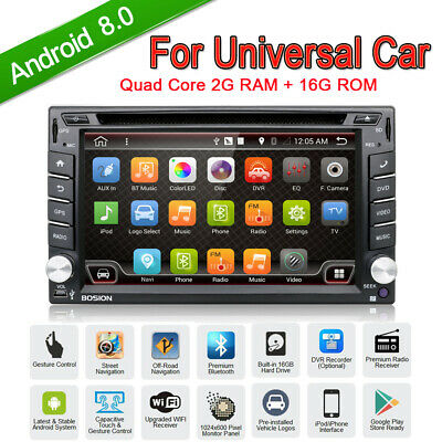 Android 8.0 Quad Core 2DIN Car Radio Stereo Player GPS NAVI WIFI RDS BLUETOOTH