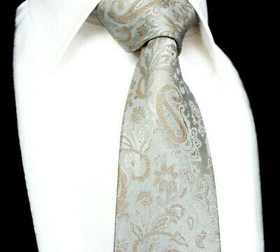 cf0684ce6e1b Champagne Gold Paisley Ivory Cream White Floral Tie Woven Silk Wedding Hanky