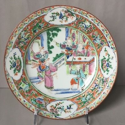 Antique 19th C Chinese Fameill Rose Plate