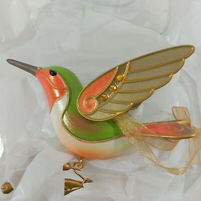 2018 Hallmark HUMMINGBIRD Surprise Beauty Birds REPAINT Mystery GOLD GOLDEN C8