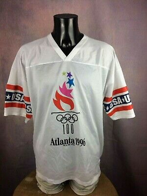 ATLANTA 1996 Jersey Maillot Trikot Logo 7 True Vintage Hockey USA Olympic Games