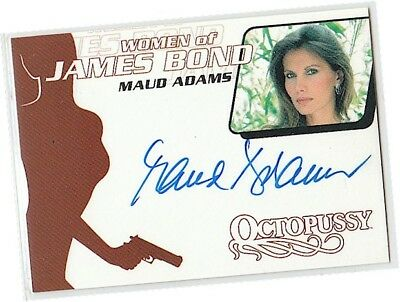 "James Bond Women in Motion - WA10 Maud Adams - ""Octopussy"" Autograph/Auto Card"