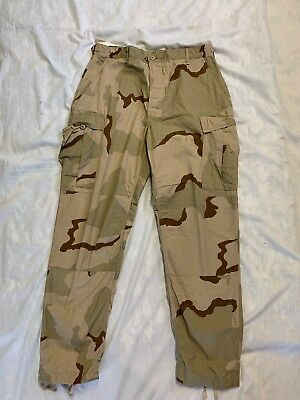 ARMY DCU Uniform Pants 50/50 Cotton Ripstop Large Long UNICOR New Stains #21