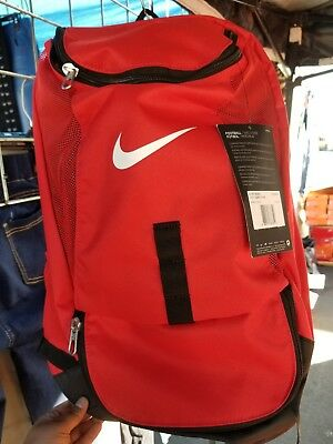 NIKE CLUB TEAM Swoosh Soccer Red Black Backpack (BA5190-657 ... 4c591a6397f03