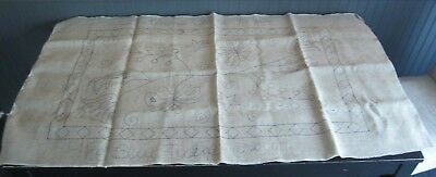 "Large Primitive Rug Hooking ""Gretchen's Choice"" Pattern Blue Tulip Woolery"