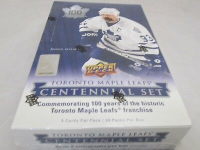 2017 Ud Toronto Maple Leaf 100Th Centennial Hobby Box