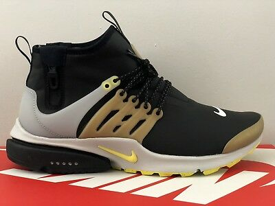 separation shoes f3d76 c6a86 Nike Air Presto Mid Utility 859524-002 Men s Size 10 Winter Black Yellow
