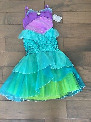 7f4e749c6c Disney Store Ariel Little Mermaid Princess Dress Up Costume Halloween 9 10  NWT