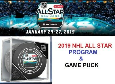 2019 Nhl All Star Game Program & Game Puck Combo Two (2) Items San Jose Sharks