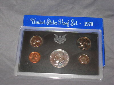 1970 S (1) One Set = *5*  Proof Coins 40% Silver Kennedy Original Mint Packaging