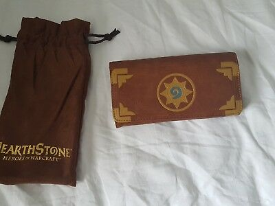 Blizzard Hearthstone Clutch Wallet with free in game card pack in bag