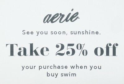 ➡️ AERIE ~ 25% OFF your purchase when you buy Swim ~ SENT FAST! Exp. 3/2/19
