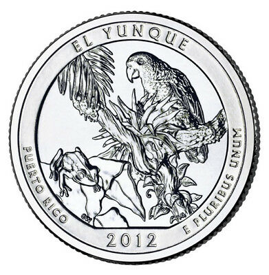 2012S EL YUNQUE National Forest America the Beautiful Quarter From US Mint Roll.