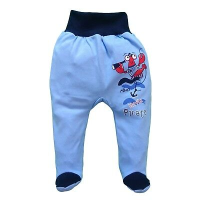 BNWT Baby Boys Pants Trousers with feet 100% Cotton 6-9/18-24 Months