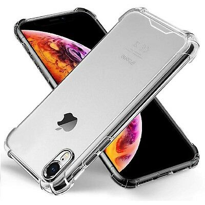 Clear case cover for iphone 5 6 7 8 plus X Xs Max XR Bumper shock proof silicone