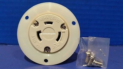 Replacement Flanged Outlet 30 Amp 125 Volt Female Twist Lock 3 Wire Nema L5-30R