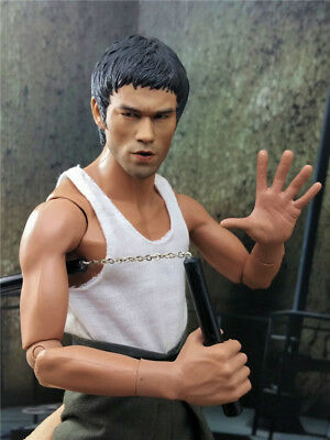 "Custom 1/6 Bruce Lee Roaring version Head Sculpt 12"" Action Figure Body New Toys"