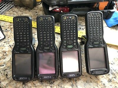 LXE MX6 scanners lot of 4 with 2 battery 4 bay charger stations