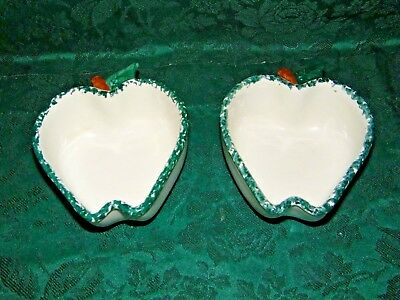 Chapparal Pottery Apple Dish  Set of 2, USA