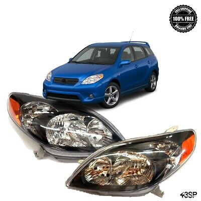 For 2008 2010 Toyota AVALON Pair Chrome Housing Amber Corner Headlight Lamp Set