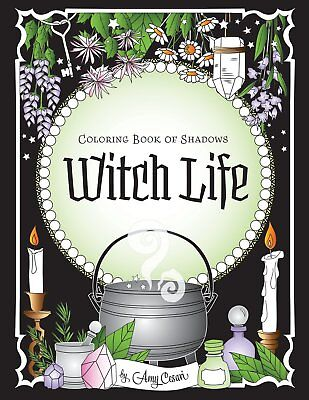 Coloring Book of Shadows Witch Life (Paperback) by Amy Cesari