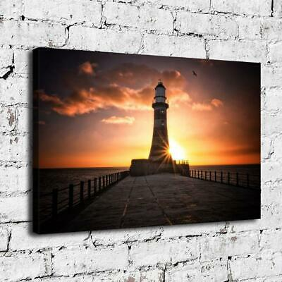 """12""""x18"""" Roker Lighthouse HD Canvas Print Painting Home Decor room Wall Picture"""