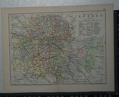c 1890 - Map - The County of London