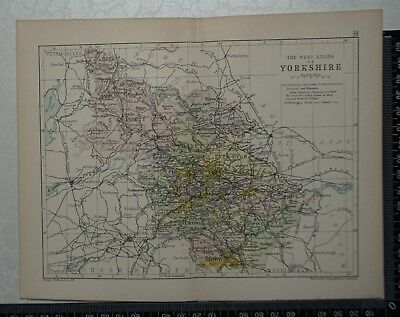 c 1890 - Map - The West Riding of Yorkshire