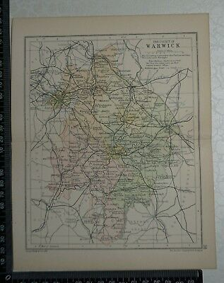 c 1890 - Map - The County of Warwickshire