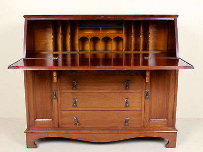 Large Antique Mahogany Bureau Writing Desk Chest Continental