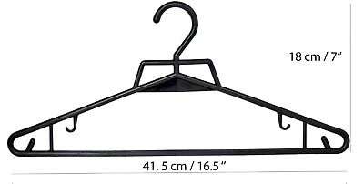 Adult Black Plastic Hanger Clothes Trousers With Bar And Lips