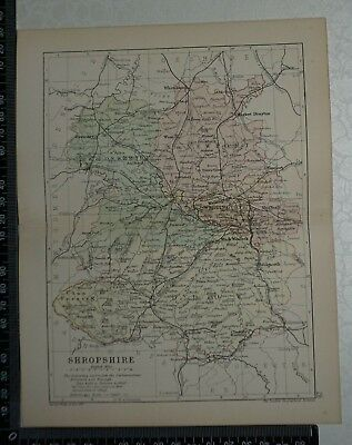 c 1890 - Map - The County of Shropshire